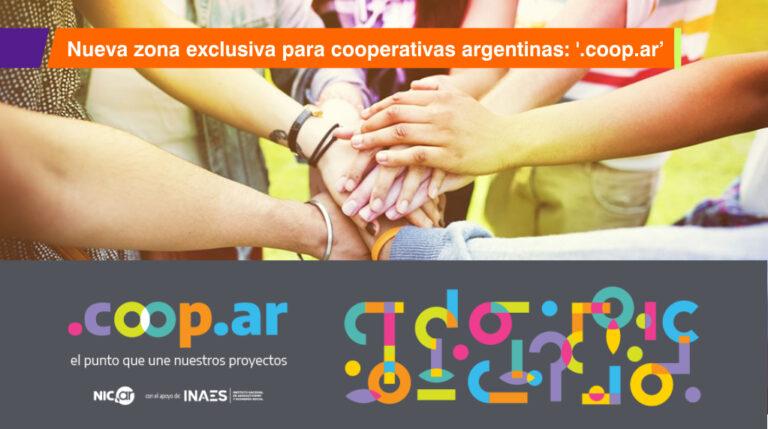 Nueva zona exclusiva para cooperativas argentinas: '.coop.ar'