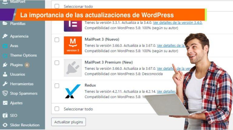 La importancia de las actualizaciones de WordPress